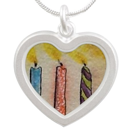 HappyBirthday Silver Heart Necklace