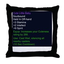 Cute Little Baby Epic Item Throw Pillow