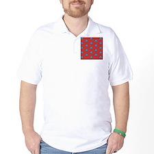 Duvet Queen Aqua Owl pattern red T-Shirt