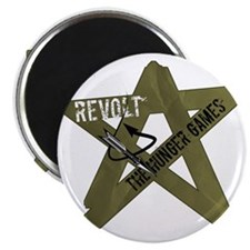 star revolt with khaki green and arrows hun Magnet