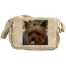 FunnyYorkieShower Messenger Bag