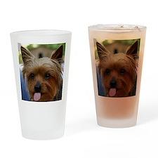 FunnyYorkieShower Drinking Glass