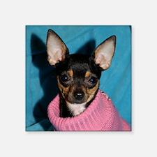 "ChihuahuaShower1 Square Sticker 3"" x 3"""