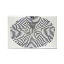 Ghost Pinwheel Rectangle Magnet