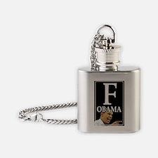 F Obama Flask Necklace
