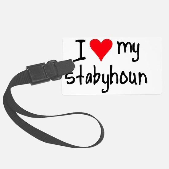 I LOVE MY Stabyhoun Luggage Tag