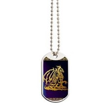 Journal Gold Dragon 1 Dog Tags