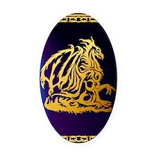 Journal Gold Dragon 1 Oval Car Magnet