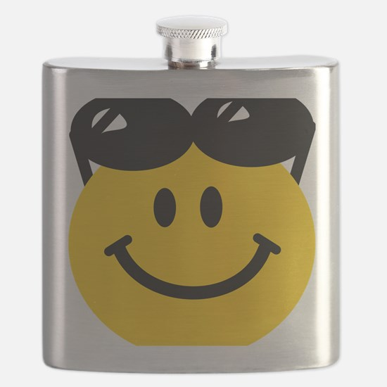 Perched Sunglasses Smiley Flask