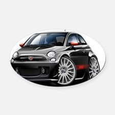 Fiat 500 Abarth Black Car Oval Car Magnet