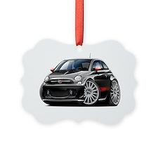 Fiat 500 Abarth Black Car Ornament
