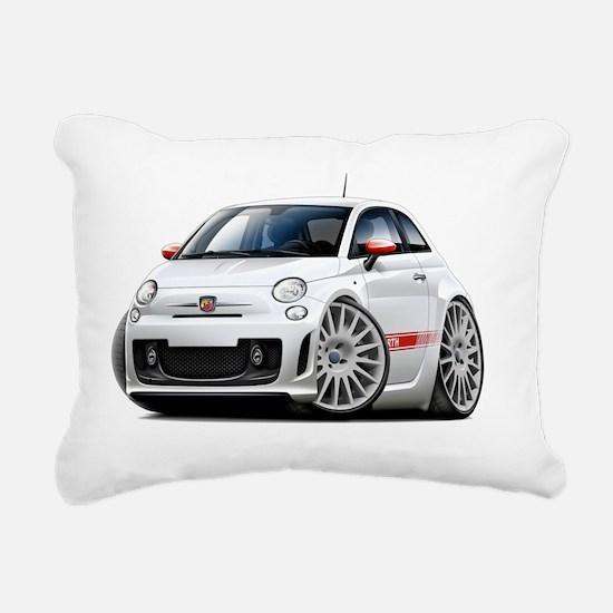 Fiat 500 Abarth White Ca Rectangular Canvas Pillow