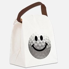 Golf ball smiley Canvas Lunch Bag