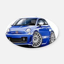 Fiat 500 Abarth Blue Car Oval Car Magnet