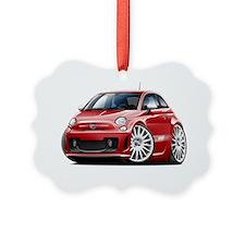 Fiat 500 Abarth Red Car Ornament