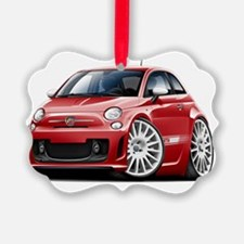 Fiat 500 Abarth Red Car Ornament