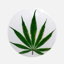 Pot_Leaf Round Ornament