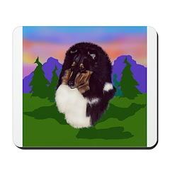 Tri colored Sheltie Mousepad