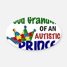 D Proud Grandma Autistic Prince Oval Car Magnet
