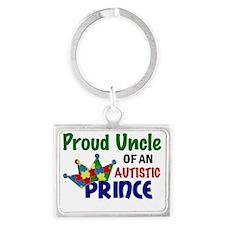 D Proud Uncle Autistic Prince Landscape Keychain