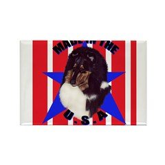 Sheltie - Made in the USA Rectangle Magnet (100 pa