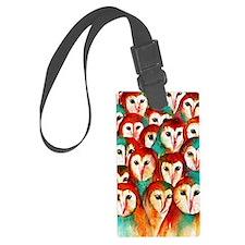 Crowded Owls Luggage Tag