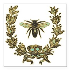 "vint-bee Square Car Magnet 3"" x 3"""
