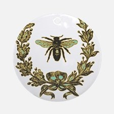 vint-bee Round Ornament