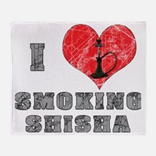 I Love smoking shisha Throw Blanket