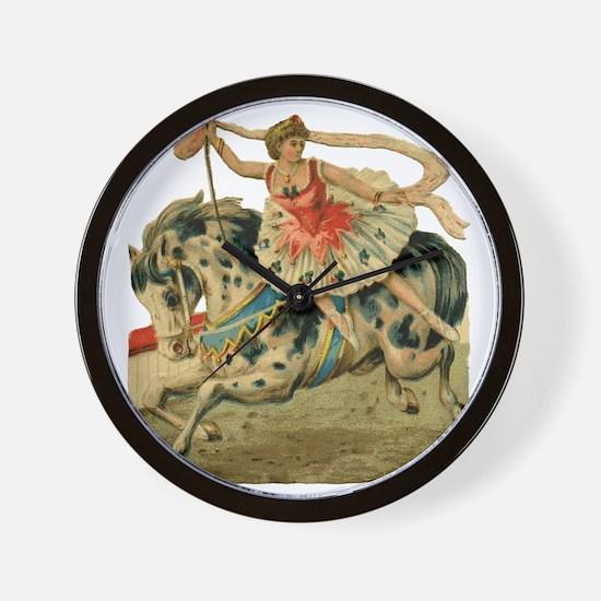 vint-horsegirl Wall Clock