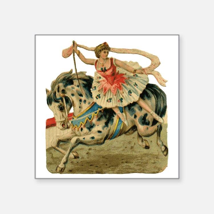 """vint-horsegirl Square Sticker 3"""" x 3"""""""