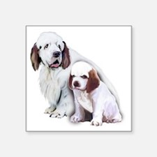 "clumber spaniels Square Sticker 3"" x 3"""
