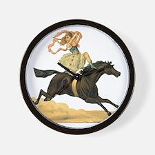 vint-horsegirl2 Wall Clock