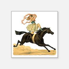 """vint-horsegirl2 Square Sticker 3"""" x 3"""""""