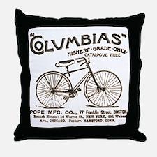 vint-bikead Throw Pillow