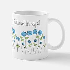 Retired principal blue roses Mug
