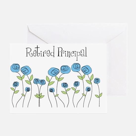 Retired principal blue roses Greeting Card