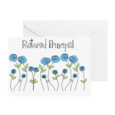 Retired principal blue roses Greeting Card