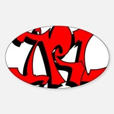 irl-grafitti Sticker (Oval)