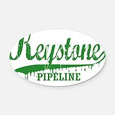 Keystone Pipeline green Oval Car Magnet