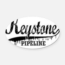 Keystone Pipeline for dark Oval Car Magnet