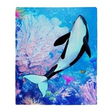 aqu_shower_curtain Throw Blanket