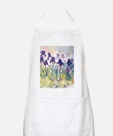 SQ Purp Irises for CP shower curtain Apron