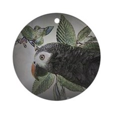 parrotgrey Round Ornament