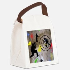 pAINTBALL aIM TWIN Canvas Lunch Bag