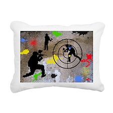 Paintball Aim Pillow Rectangular Canvas Pillow
