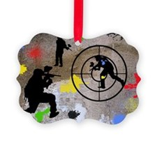 Paintball Aim Pillow Ornament