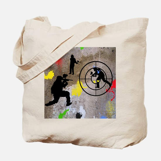 pAINTBALL aIM TWIN Tote Bag