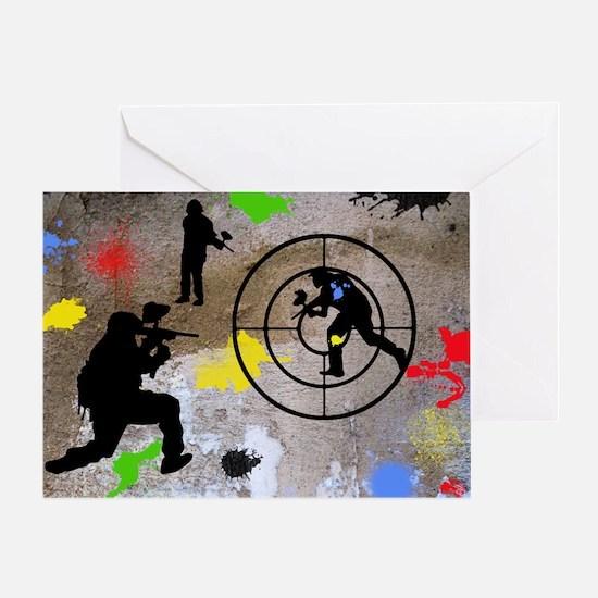 Paintball Aim Pillow Greeting Card