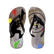 pAINTBALL aIM TWIN Flip Flops